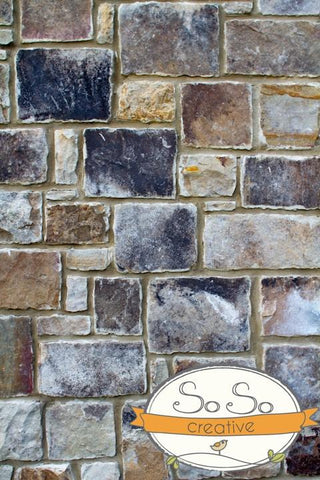Stone Photo Backdrop - Cool Patchwork