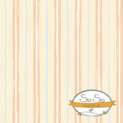 Striped Photo Backdrop - Peach and Blue