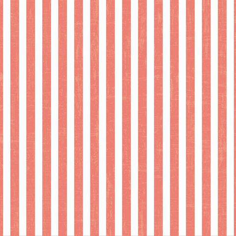 Striped Photo Backdrop - Vintage Coral Wallpaper