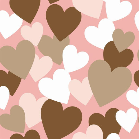 Valentine Photo Backdrop - All of My Love in Pink
