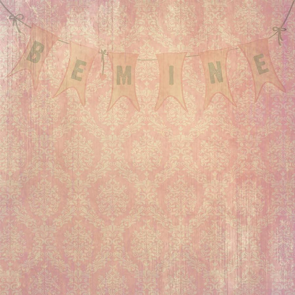 Valentine Damask Photo Backdrop - Be Mine