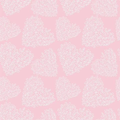Valentine Photo Backdrop - Hearts and Curls