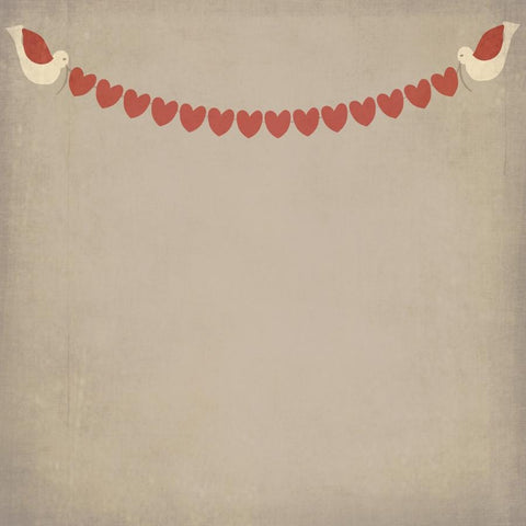 Valentine Photo Backdrop - Love Birds Banner Backdrops vendor-unknown