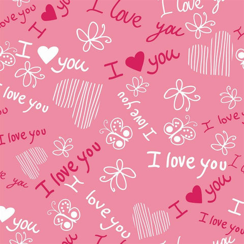 Valentine Photo Backdrop - Love Doodles on Pink Backdrops SoSo Creative