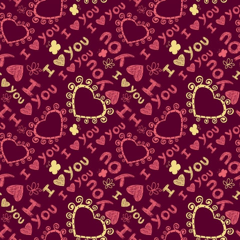 Valentine Photo Backdrop - Sketchy Love