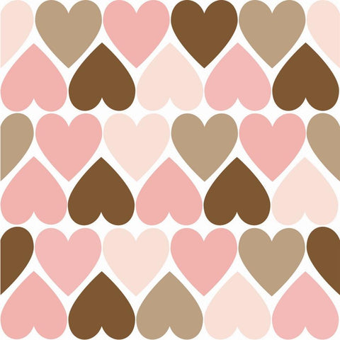 Valentine Photo Backdrop - Tiled Hearts in Pink