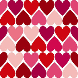 Valentine Photo Backdrop - Tiled Hearts in Red