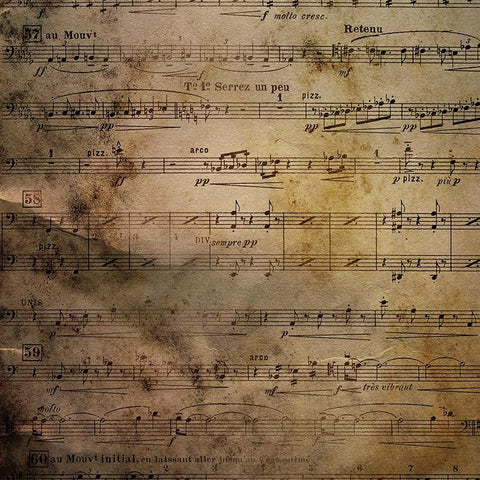 Vintage Backdrop Distressed Sheet Music
