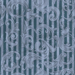 Photo Backdrop - Acanthus Scrapbook in Blue