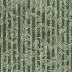 Photo Backdrop - Acanthus Scrapbook in Green