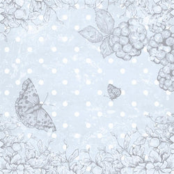 Photo Backdrop - Butterfly Scrapbook in Blue