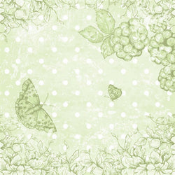 Vintage Backdrop Butterfly Scrapbook in Green