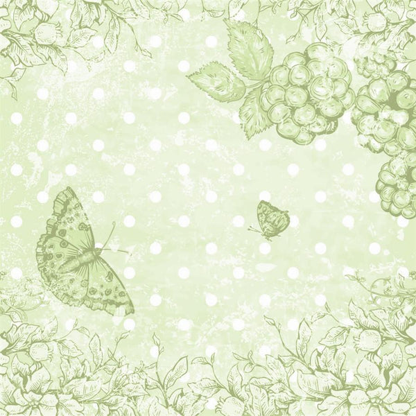 Photo Backdrop - Butterfly Scrapbook in Green
