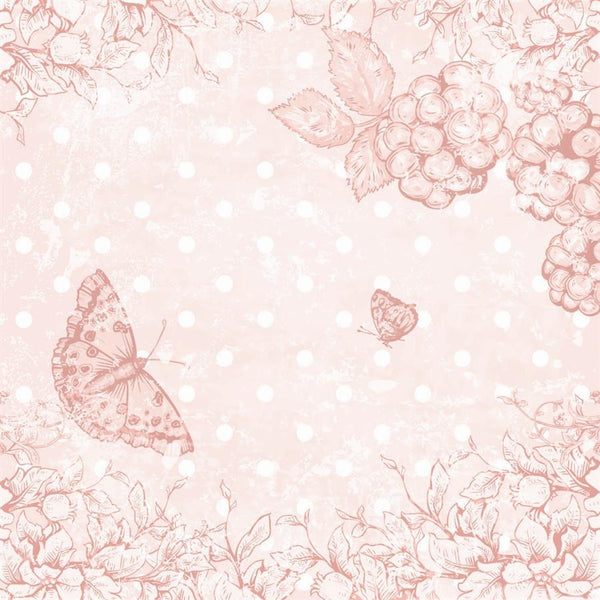 Photo Backdrop - Butterfly Scrapbook in Pink