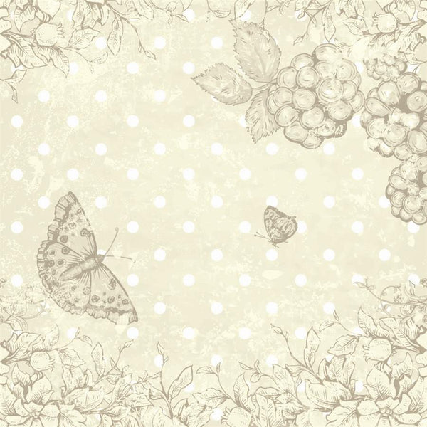 Photo Backdrop - Butterfly Scrapbook in Yellow