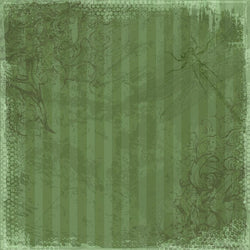 Photo Backdrop - Dragonfly Scrapbook in Green