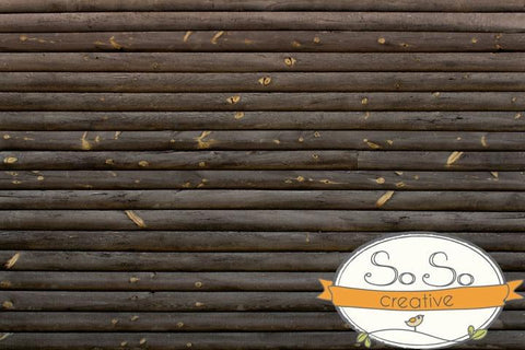 Wood Photo Backdrop - Deep Woods Cabin Neutral
