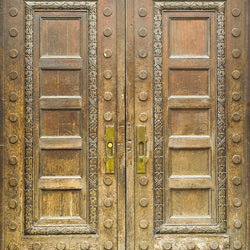 Wood Photo Backdrop - Golden Entry Door Backdrops vendor-unknown