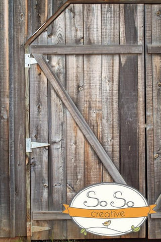 Wood Photo Background - Horse Barn Door Backdrops vendor-unknown