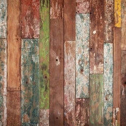 Wood Photo Backdrop - Multicolor Barnwood Backdrops vendor-unknown