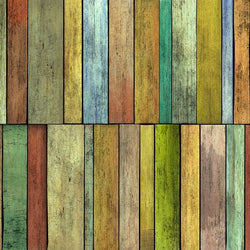 Rustic Wood Photo Backdrop - Multicolor Stripe Barnwood