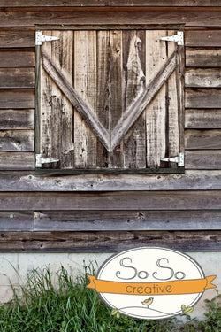 Barn Door Photo Backdrop Backdrops vendor-unknown