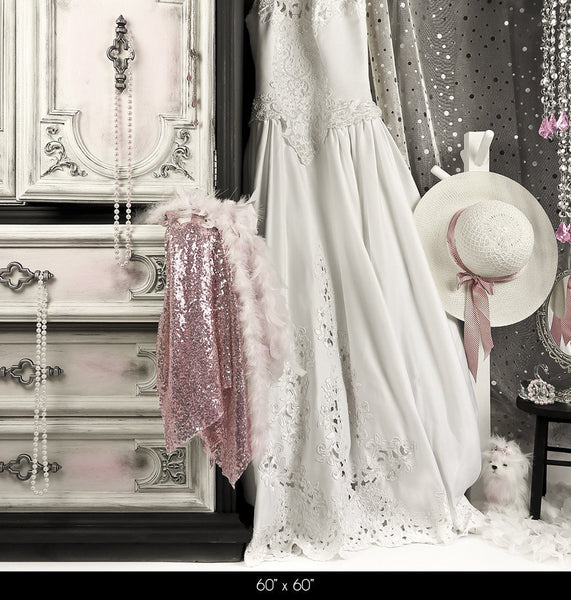 Bridal Dress-up Pink Photography Backdrop