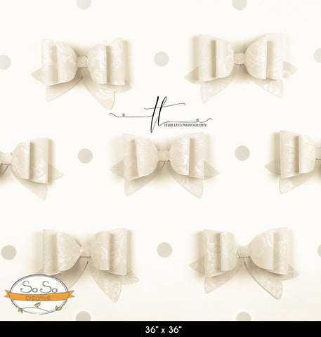 French Bows Linen Photography Backdrop