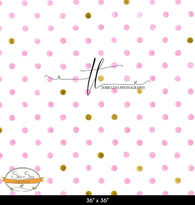 Pink n Gold Grunge Dots Photography Backdrop