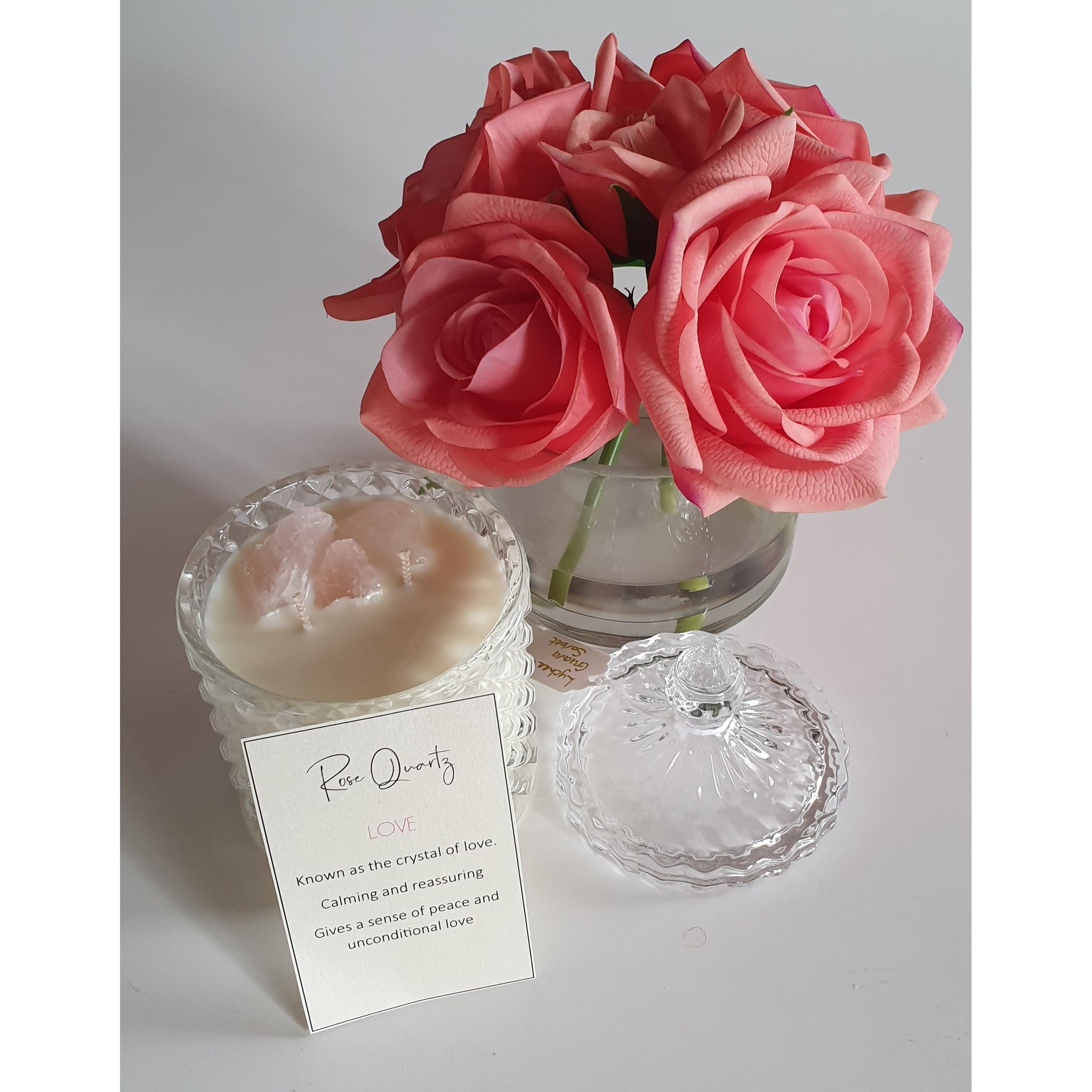 Crystal Infused Candle... Rose Quartz