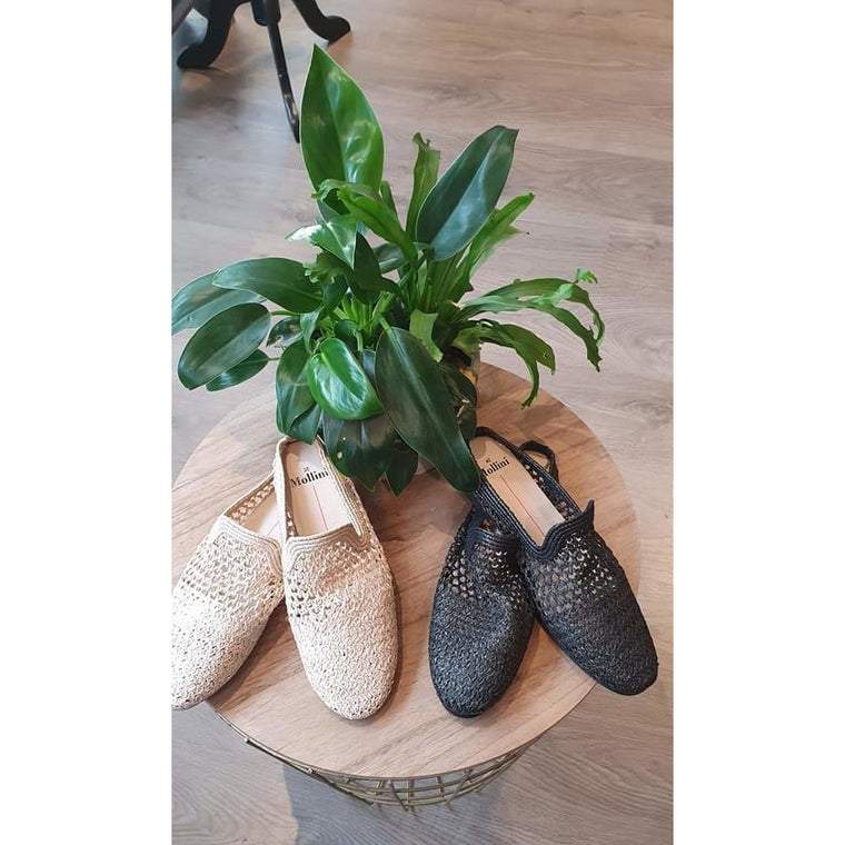 Mollini Montie Raffia Natural Shoes
