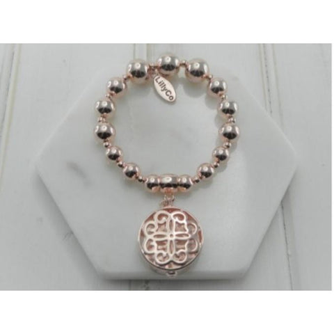 Rose Gold Hollow Pendant bracelet