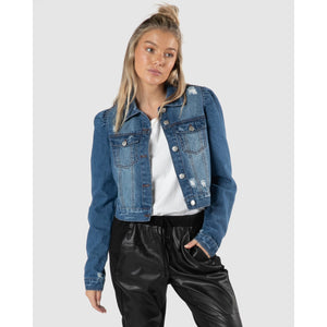 Cacey Puff Denim Jacket