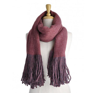 Red Wine 2 tone scarf