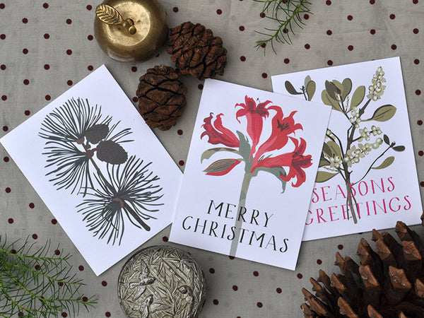 seasonal botanical notecards