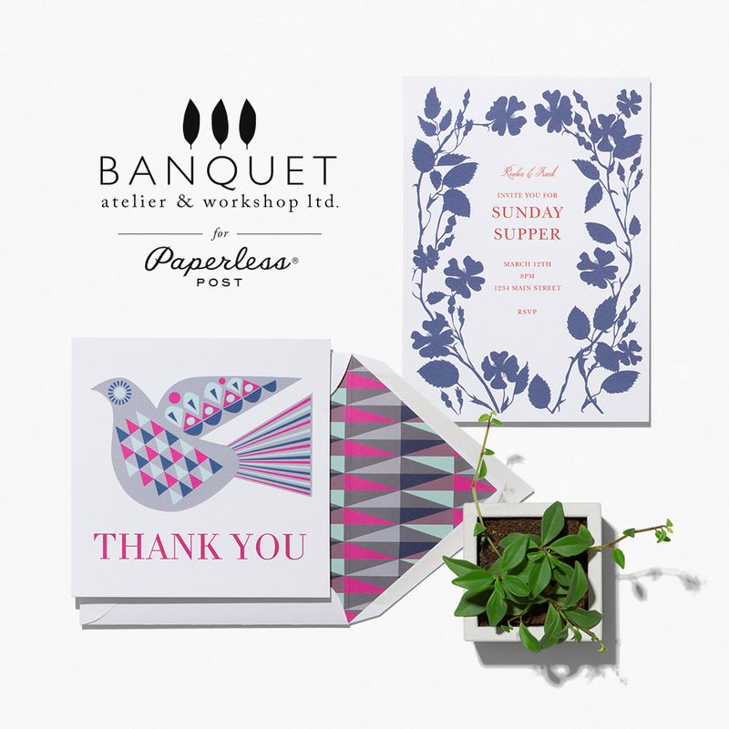 Banquet Workshop & Paperless Post