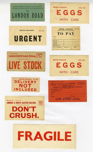Vintage British Railway Stickers