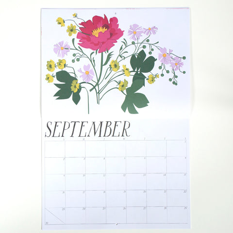 September flowers from Banquet Workshop's 2018 calendar