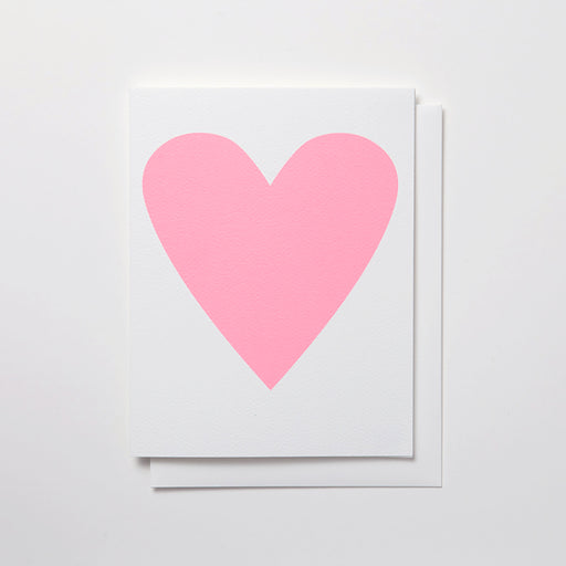 Banquet Workshop's classic and original heart note card in a pastel neon pink