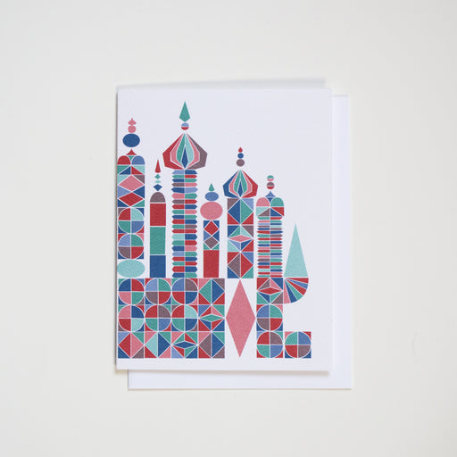 Holiday Card - Russian Castle - Blank Note Card