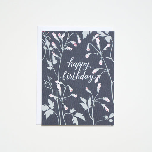 Vining Happy Birthday- floral note card