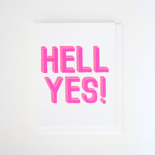 Double neons and a Hell Yes! message make this Banquet Workshop note card extra punchy!