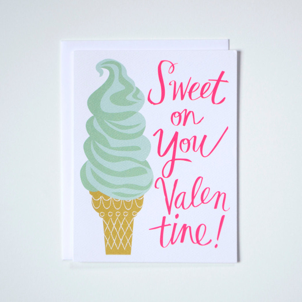 Sweet on You Valentine Note Card