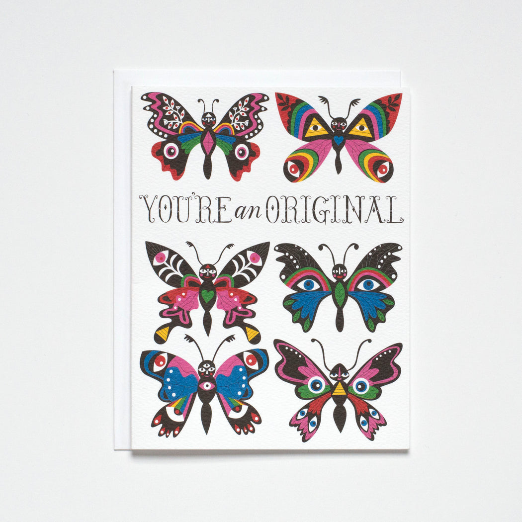 You're an Original - Rainbow Butterflies - Note Card