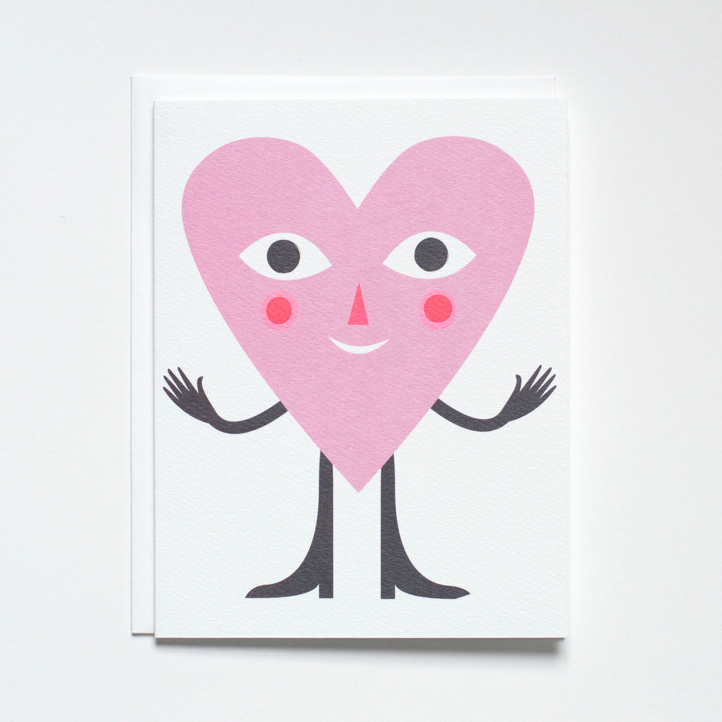 A Banquet Workshop note card with a smiling heart and arms outstretched for a hug
