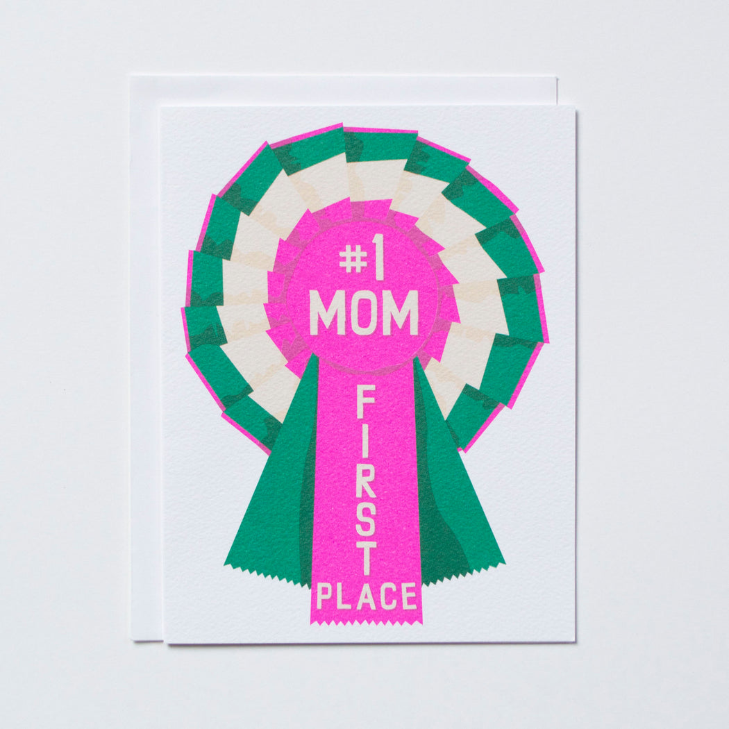 #1 Mom Ribbon Note Card