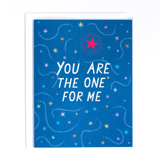 night sky note card, you are the one, starry starry night