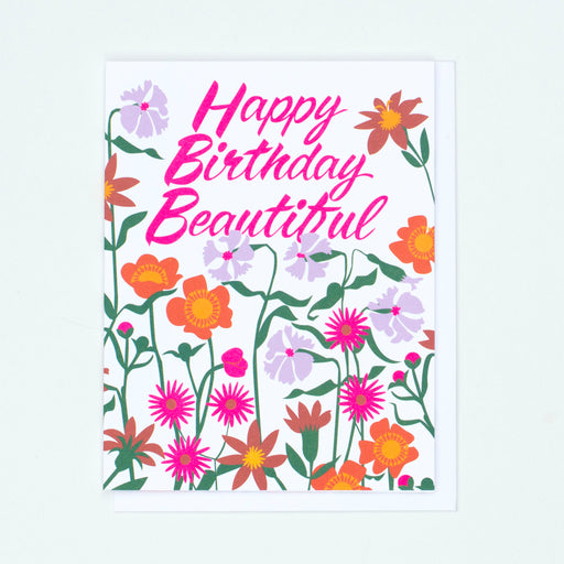 happy birthday beautiful,florwers,flower card