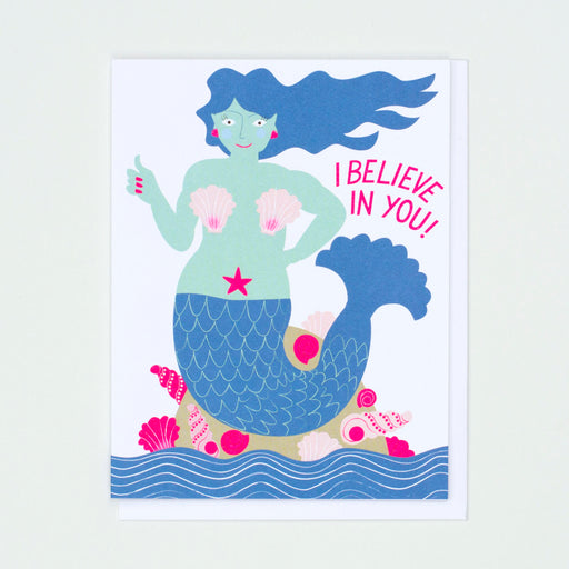 mermaid card,i believe in you card, card for graduation