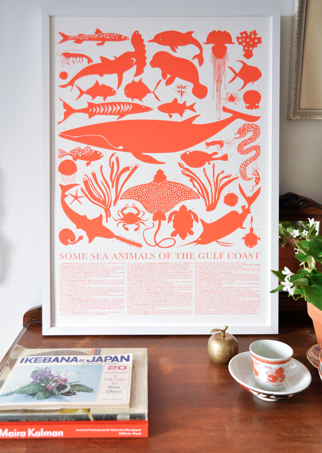 Styled shot of Banquet Workshop's Gulf Coast Sea Animals Screen Print